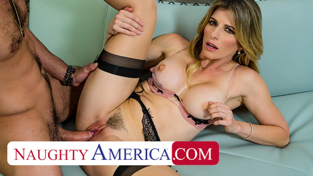 Naughty America - Cory Chase bounces on some young cock