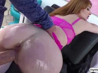 NYMPHO Horny redhead Lacy Lennon has her pussy pumped full of cum