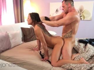 Dane Jones Pretty European wife Cassie passionate sex with husband