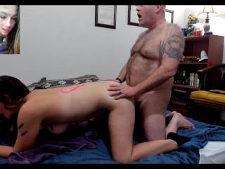 Old man fucks slut hard
