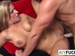 Avy in a hot scene with Van Damage!