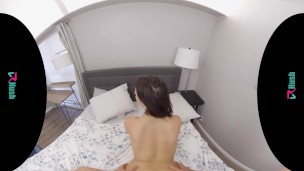 VRHUSH Jackie Ohh rides your hard cock in virtual reality