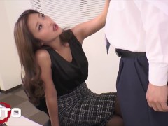 Erito - Japanese Secretary Gets Banged Hard By Her Boss At The Office & Gets Filled Up With His Cum