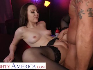 Naughty America – Freya Parker needs some good dick so she heads back to the strip club she used to work at