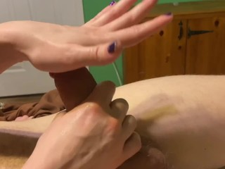 I use his Cum to Torture him Post Orgasm