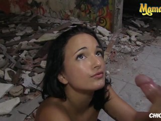 ChicasLoca – Claudia Bavel Crazy Spanish Teen Gets Her Tight Pussy Fucked Hard Outside