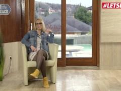 HerLimit - Luna Melba Big Ass Romanian Slut Takes A Big Black Cock In Her Ass And Pussy - LETSDOEIT