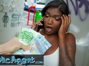 Public Agent Sexy Huge Boobs And Juicy Butt Rides A Big Dick In Public Place