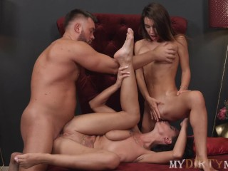 MyDirtyNovels – Man penetrates anuses of spouse and big-boobied girlfriend