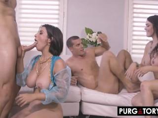 PURGATORYX Genie grants Donnie his third and final wish – a big tit MILF!
