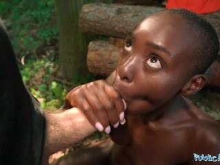 Public Agent Hot Ebony Nude Model Zaawaadi fucks a big cock outdoors