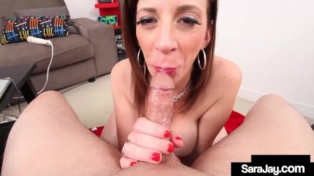 Dick Milking Expert Sara Jay Sucks A Hard Cock Until She Busts That Nut!