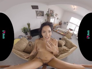 VRHUSH Tiny Asian cutie Morgan Lee is here to help you clean your pipes