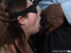Private Black - Greedy Flat Chested Amber Rayne Enjoys Interracial Gangbang