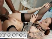 Dane Jones Sexy tattooed European girl Esulna takes control of big ebony dick