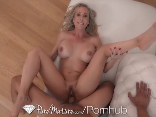 PUREMATURE Big Tit Blonde Fucked In Kitchen