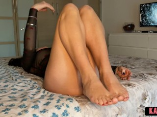 She can't rest unless i CUM inside her Tight PUSSY first! Eager SLUT!