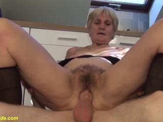 granny gets a massive facial
