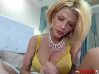 Hot Cougar In Lingerie Rides Dick In POV