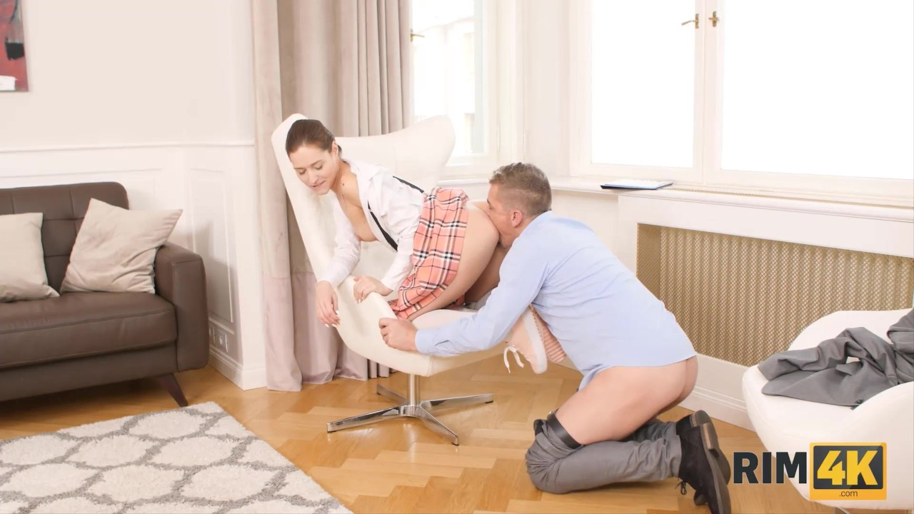 RIM4K Husband is angry and the winsome coed licks ass to cajole him
