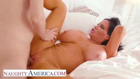 Naughty America - Sybil Stallone notices her son s friend spying on her while she pleases herself