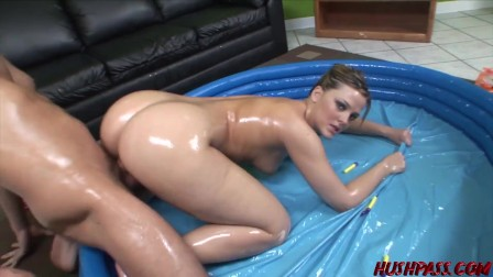 Alexis gets her Bubble Butt Banged in a Pool of Oil