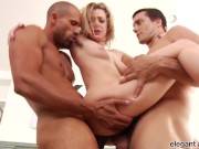 Anal Fanatic: Tattooed Blonde Gets Stuffed With Two Dicks
