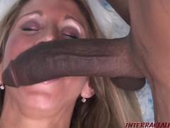Morgan takes on Two Massive Black Cock Erections