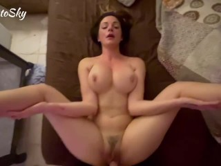Czech Green eyed babe begs to be fucked like a whore and takes huge load of cum to the face