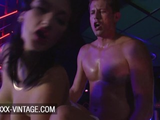 Vintage orgy in the night club