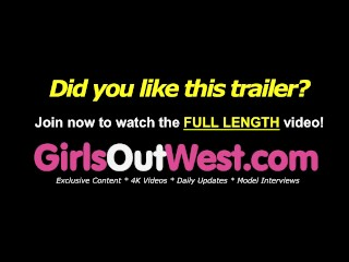 Girls Out West – Unshaved lesbos lick cunts before rimjob