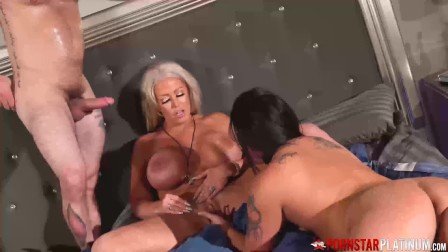 Busty MILFs Using Hot Hunk For Pleasure