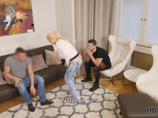 HUNT4K Hunter receives awesome titjob and bangs pussy for money