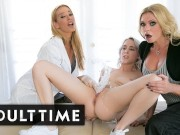 Virgin Squirts Lead to Blonde Threesome with Step