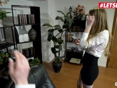 ScamAngels - Bunny Colby & Lacy Lennon Phat Booty American Babes Hardcore Threesome Sex With Their Boss