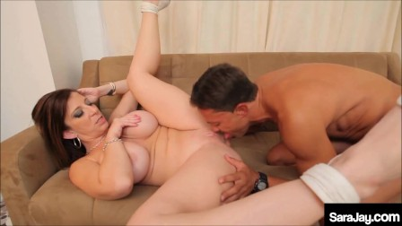 PAWG Sara Jay Gets Her Date To Cram Her Cunt With His Big Swinging Dick!