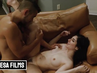 Bellesa – Dante Colle Is Into Keira Croft & She Shows Her Interest By Throwing Him On The Couch