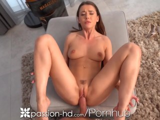 PASSION-HD Twat Lips Swallows Thick Load Of Cum