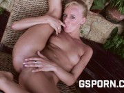 The Hot Czech Blonde Sexy Milf Eva Show Her Tight Pussy