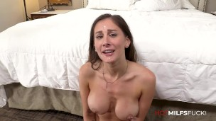 Sexy Milf Gets Big Dick Anal Fucking In Ally Cooper First Porn Casting Scene with Cum Facial