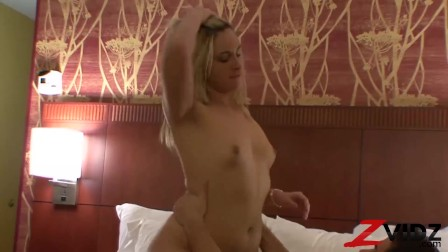 Naughty Blonde Rides Dick After Blowjob