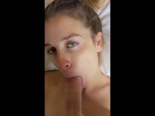 Marie Jah Wanna: Deepthroats Fat Cock and Gets Cumblasted.