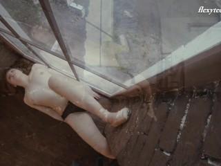 Cutest big tight ass teen from Russia Rita shows her flexibility
