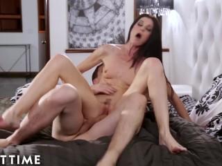MILF Stepmom Almost Caught Fucking Her Big Dick Stepson
