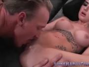 Pussy eaten tattooed british babe bangs sucks and tugs pornstar Luke Hardy