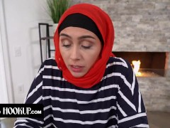 Stepmom With Hijab Lilly Hall Trains Her Cock Sucking Skills On Her Teen Stepson POV