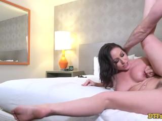 Brunette Slut Pussy Pounded by James Deen
