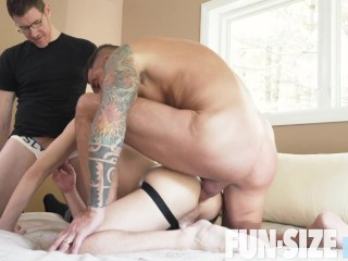 Tiny Twink Double Raw Penetrated In 3way