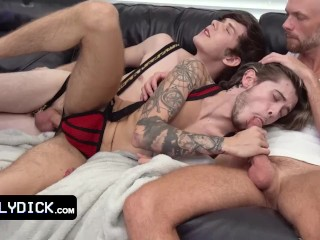 Gorgeous Young Twink Joins Gay Couple For A Sweaty Hardcore Threesome For Their Anniversary