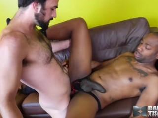 Interracial Bareback With Hung Gay Men